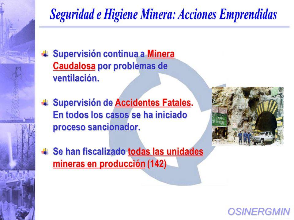 Seguridad e Higiene Minera: Acciones Emprendidas