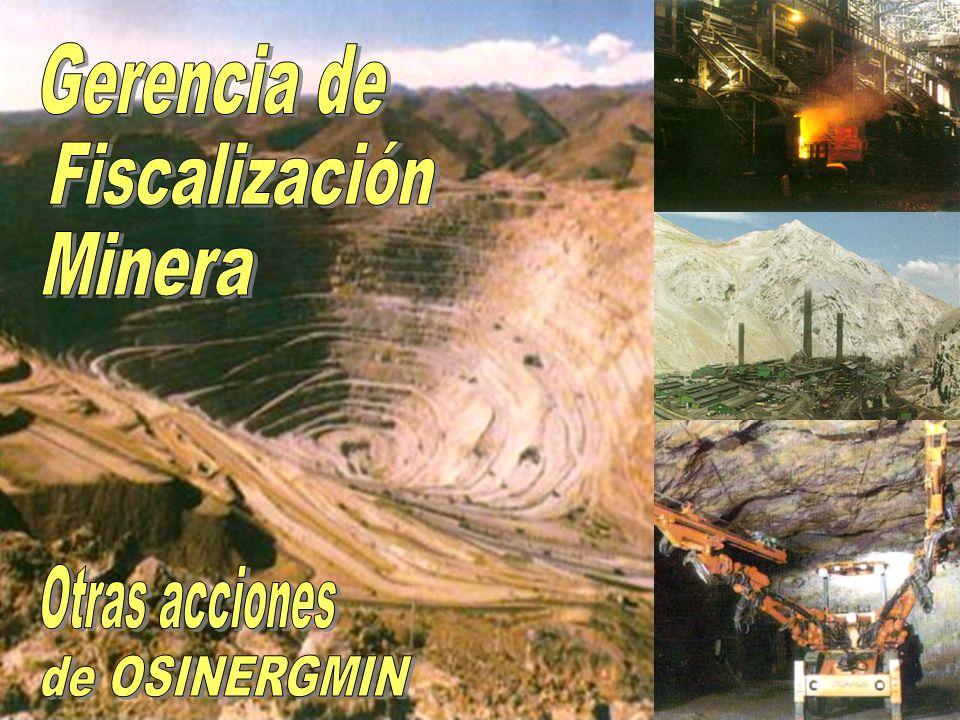 Gerencia de Fiscalización Minera Otras acciones de OSINERGMIN