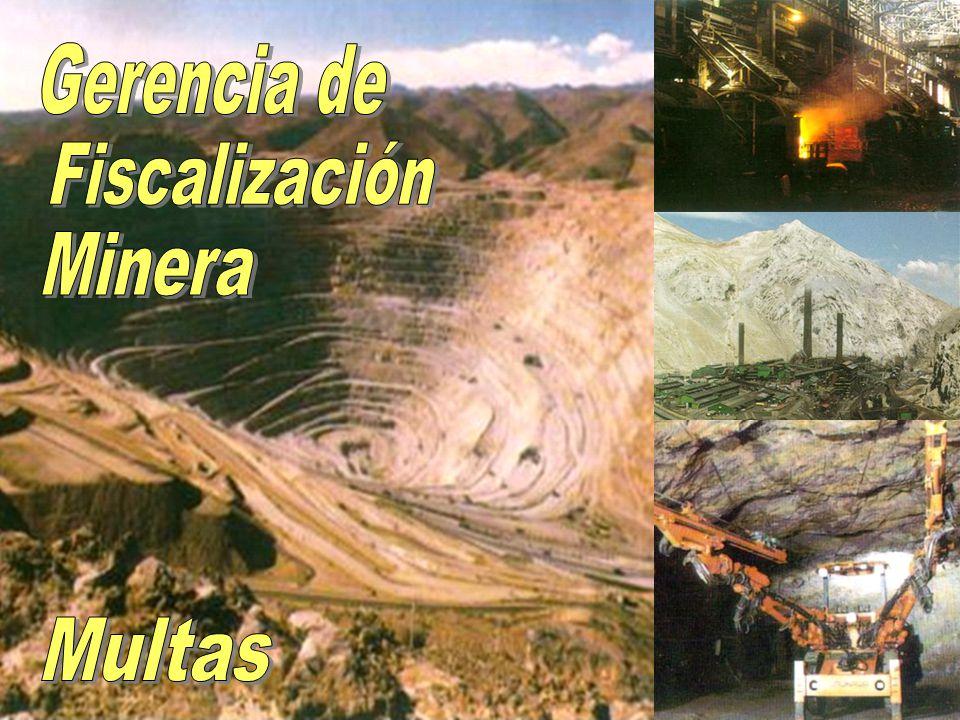 Gerencia de Fiscalización Minera Multas