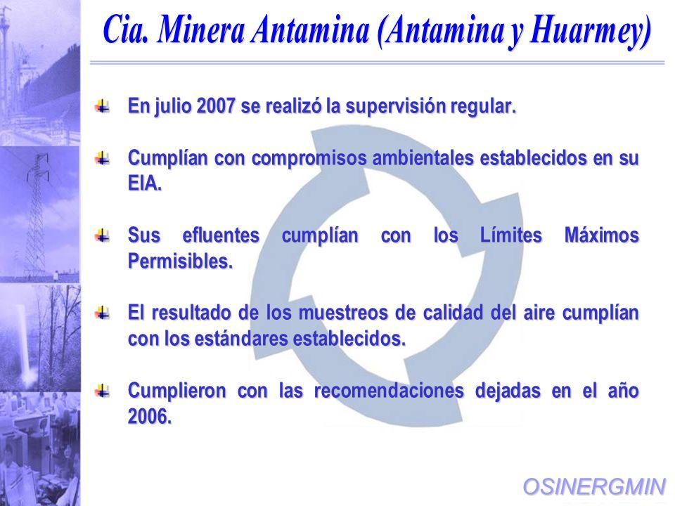 Cia. Minera Antamina (Antamina y Huarmey)