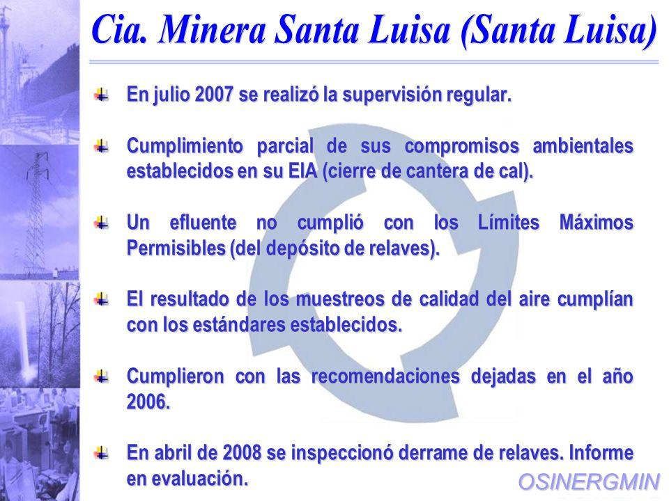 Cia. Minera Santa Luisa (Santa Luisa)