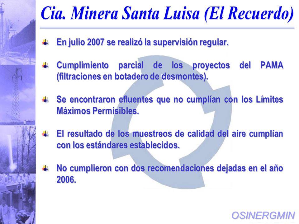 Cia. Minera Santa Luisa (El Recuerdo)