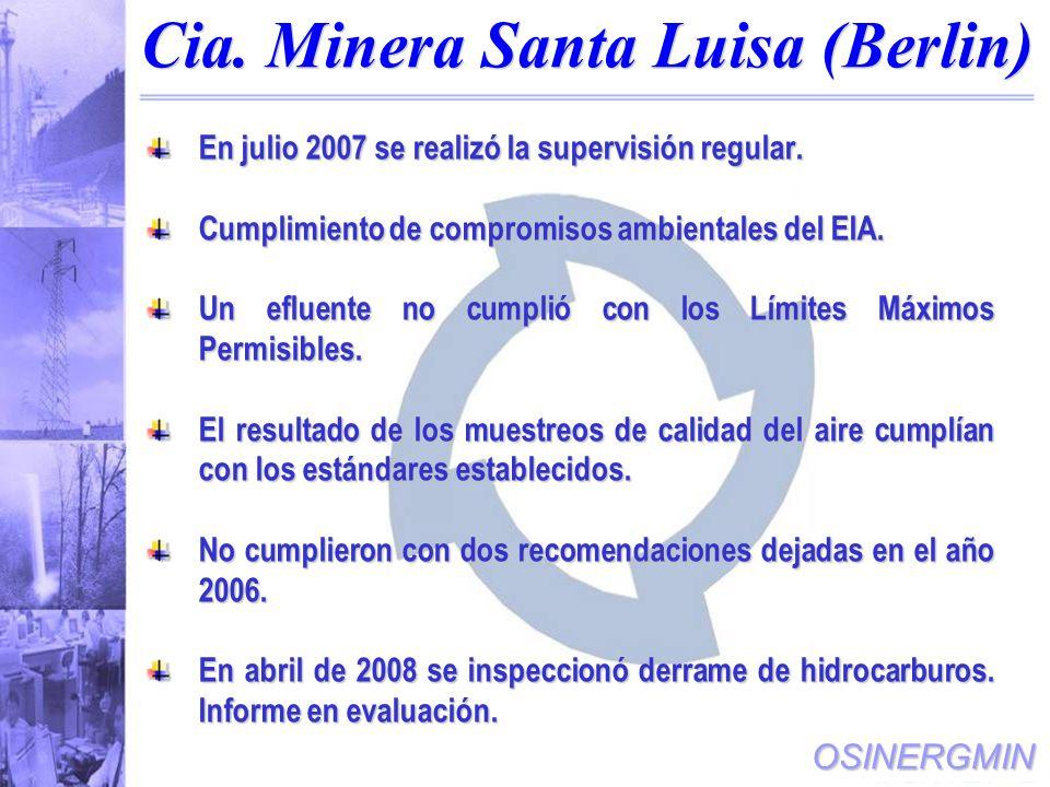 Cia. Minera Santa Luisa (Berlin)