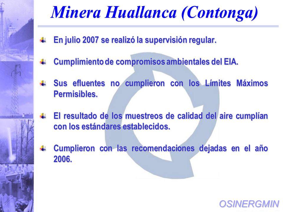 Minera Huallanca (Contonga)