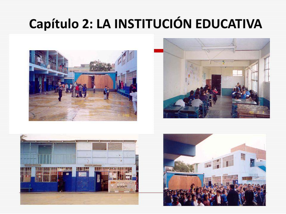 Capítulo 2: LA INSTITUCIÓN EDUCATIVA