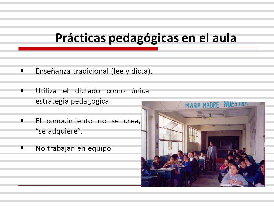 Prácticas pedagógicas en el aula