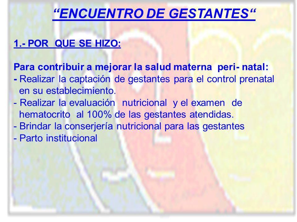 ENCUENTRO DE GESTANTES