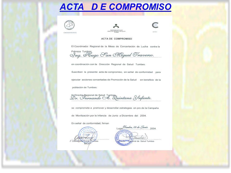 ACTA D E COMPROMISO