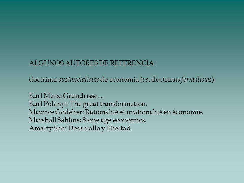 ALGUNOS AUTORES DE REFERENCIA: