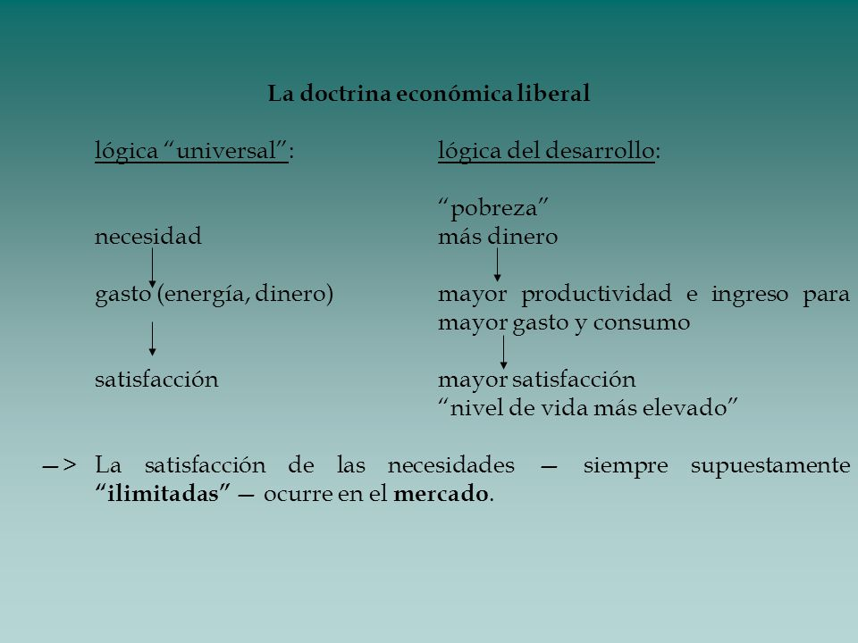 La doctrina económica liberal