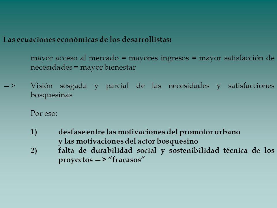 Las ecuaciones económicas de los desarrollistas: