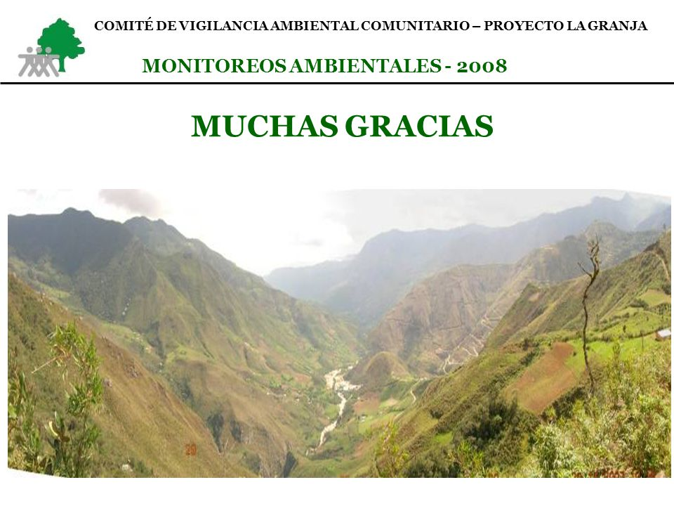 MUCHAS GRACIAS MONITOREOS AMBIENTALES - 2008