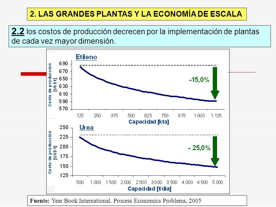 2. LAS GRANDES PLANTAS Y LA ECONOMÍA DE ESCALA