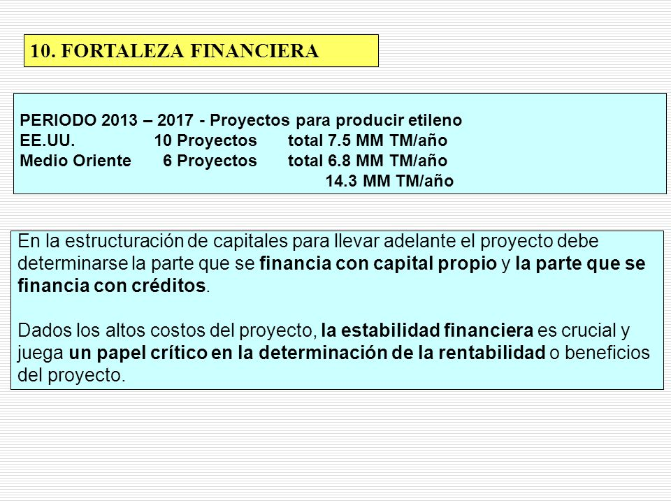 10. FORTALEZA FINANCIERA