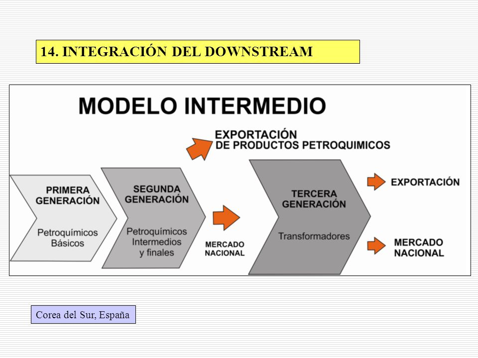 14. INTEGRACIÓN DEL DOWNSTREAM