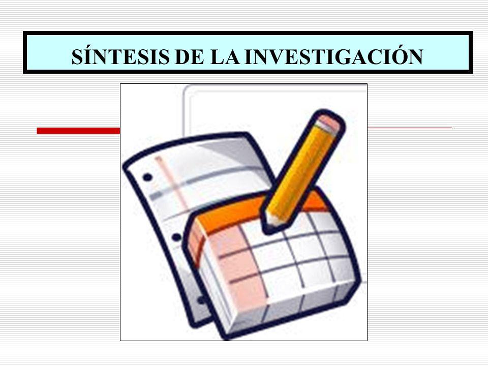 SÍNTESIS DE LA INVESTIGACIÓN