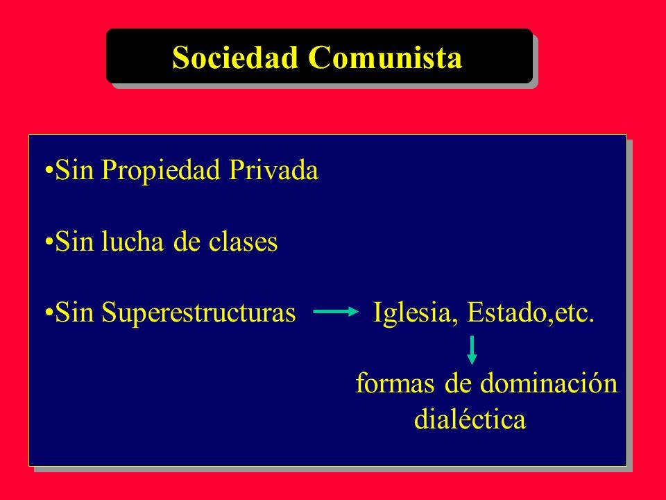 Sociedad Comunista Sin Propiedad Privada Sin lucha de clases