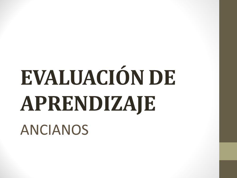 EVALUACIÓN DE APRENDIZAJE