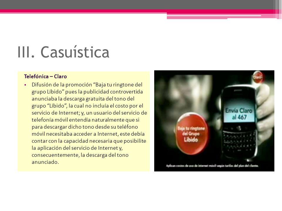 III. Casuística Telefónica – Claro