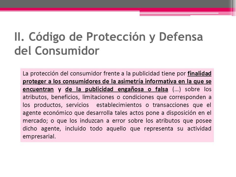 II. Código de Protección y Defensa del Consumidor