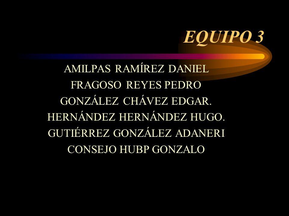 EQUIPO 3 AMILPAS RAMÍREZ DANIEL FRAGOSO REYES PEDRO