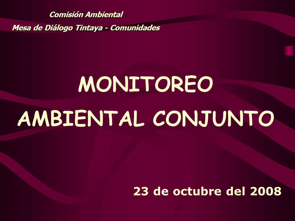 Mesa de Diálogo Tintaya - Comunidades MONITOREO AMBIENTAL CONJUNTO