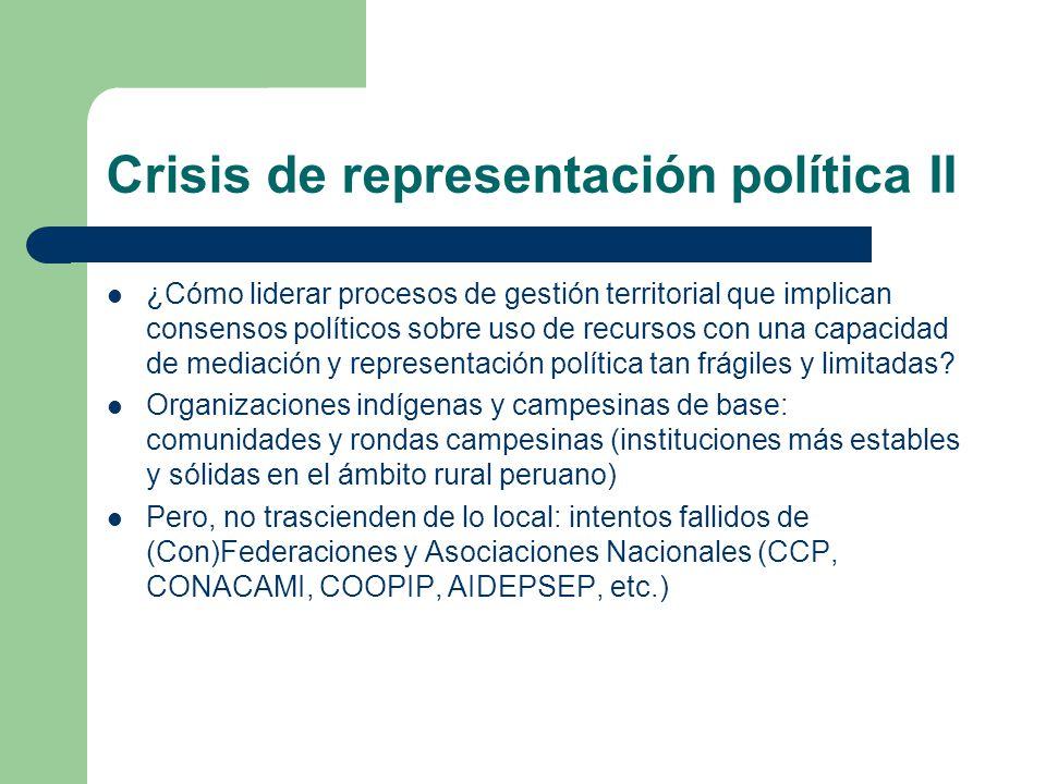 Crisis de representación política II