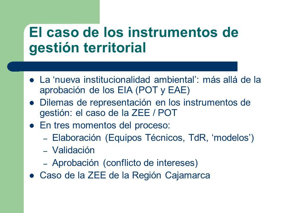 El caso de los instrumentos de gestión territorial