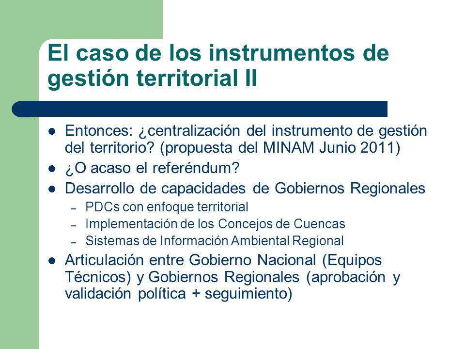 El caso de los instrumentos de gestión territorial II