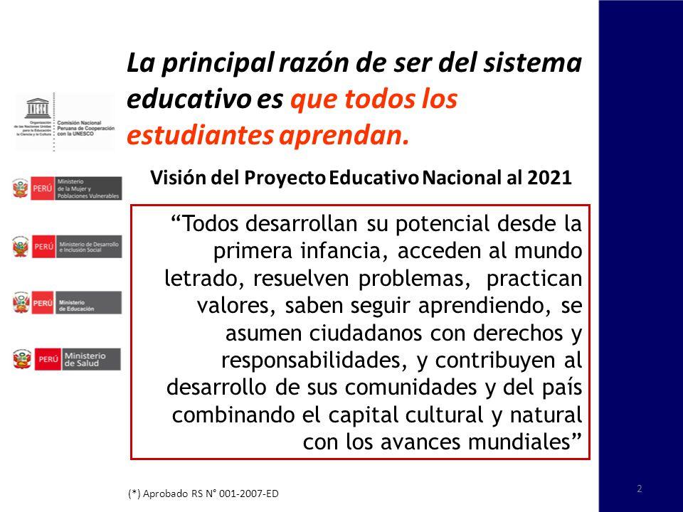 Visión del Proyecto Educativo Nacional al 2021