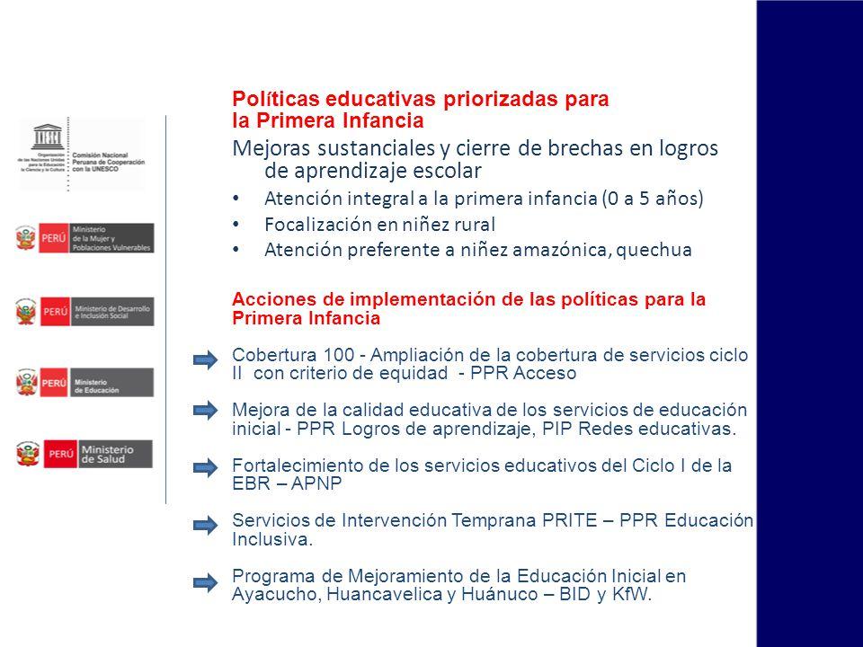 Políticas educativas priorizadas para