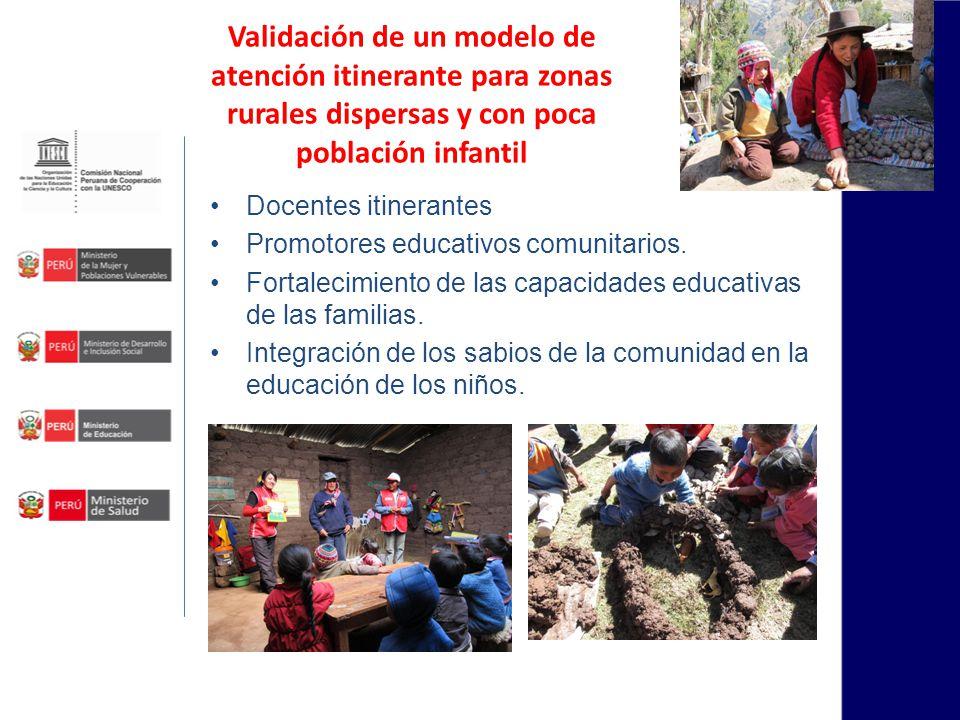 Validación de un modelo de atención itinerante para zonas rurales dispersas y con poca población infantil
