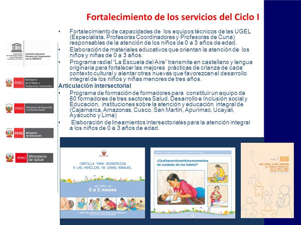 Fortalecimiento de los servicios del Ciclo I