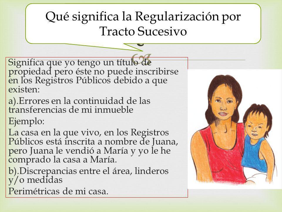Qué significa la Regularización por Tracto Sucesivo