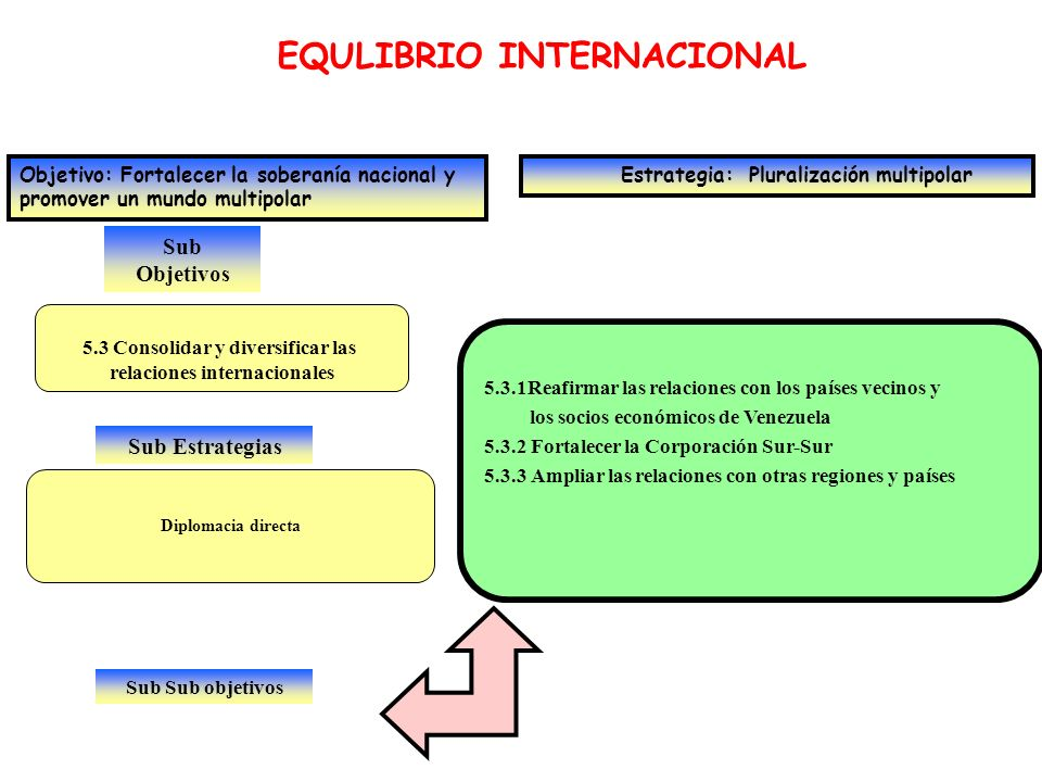 5.3 Consolidar y diversificar las relaciones internacionales