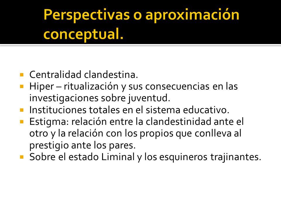 Perspectivas o aproximación conceptual.
