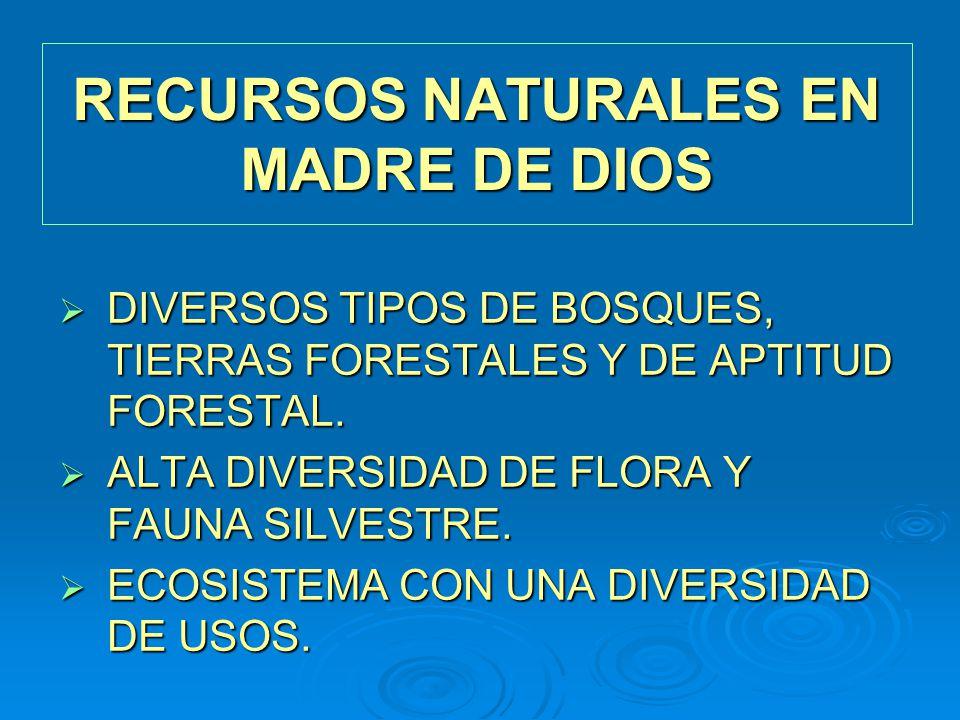 RECURSOS NATURALES EN MADRE DE DIOS