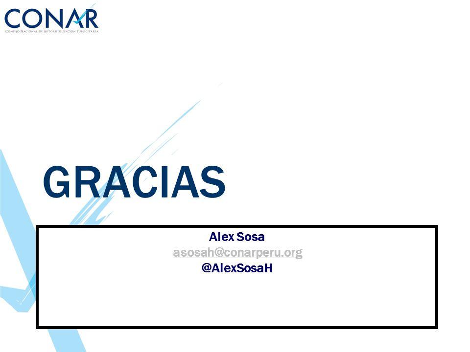 Alex Sosa asosah@conarperu.org @AlexSosaH