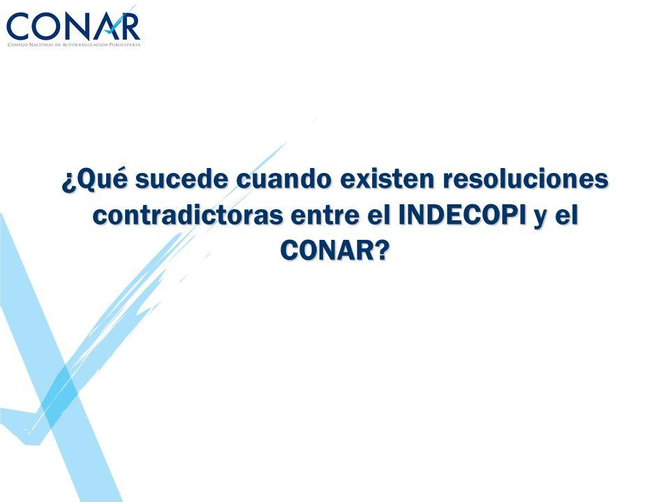 ¿Qué sucede cuando existen resoluciones contradictoras entre el INDECOPI y el CONAR