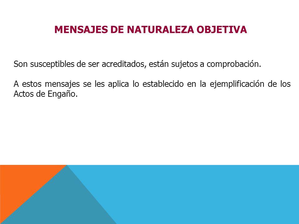 MENSAJES DE NATURALEZA OBJETIVA