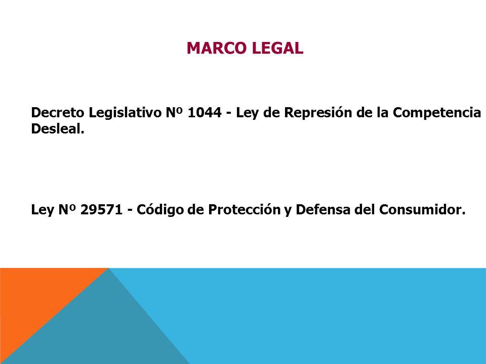MARCO LEGAL Decreto Legislativo Nº 1044 - Ley de Represión de la Competencia Desleal.
