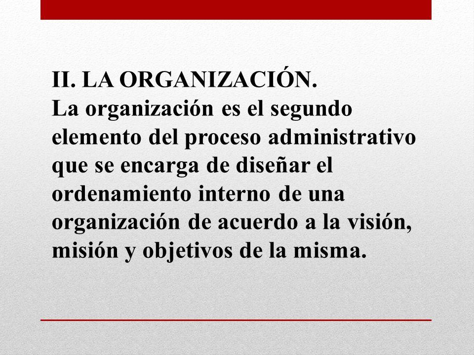 II. LA ORGANIZACIÓN.