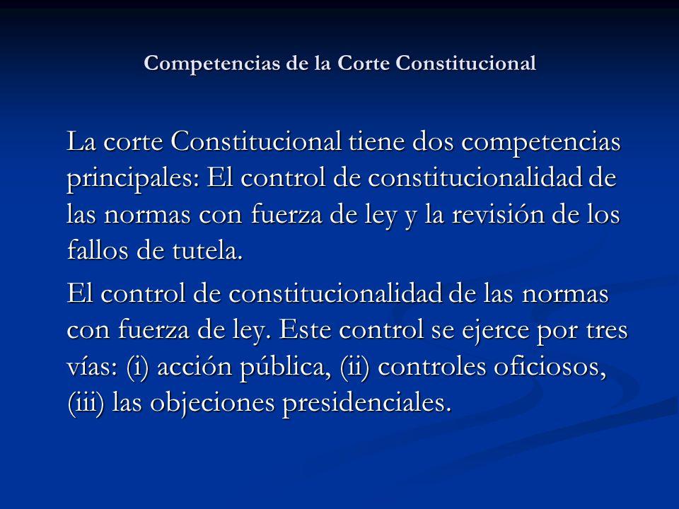 Competencias de la Corte Constitucional