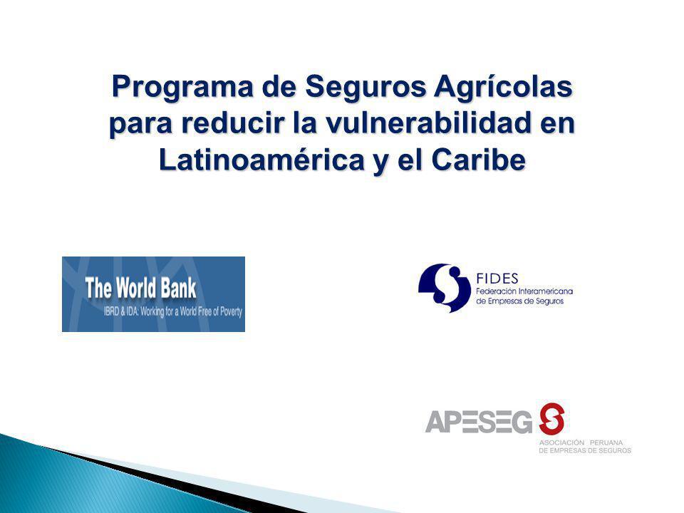 Programa de Seguros Agrícolas