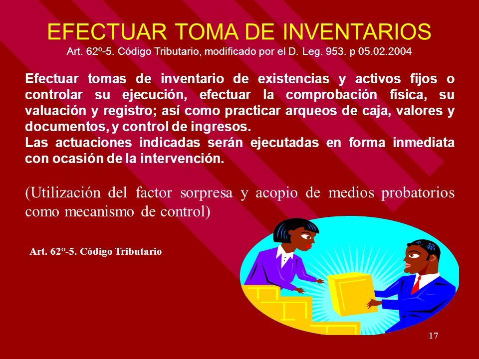 EFECTUAR TOMA DE INVENTARIOS