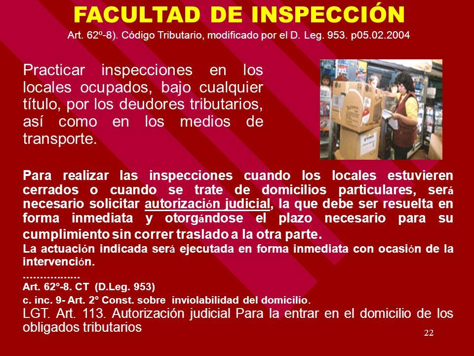 FACULTAD DE INSPECCIÓN