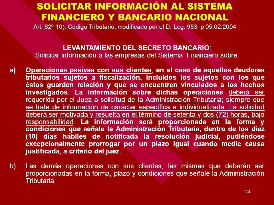 SOLICITAR INFORMACIÓN AL SISTEMA FINANCIERO Y BANCARIO NACIONAL