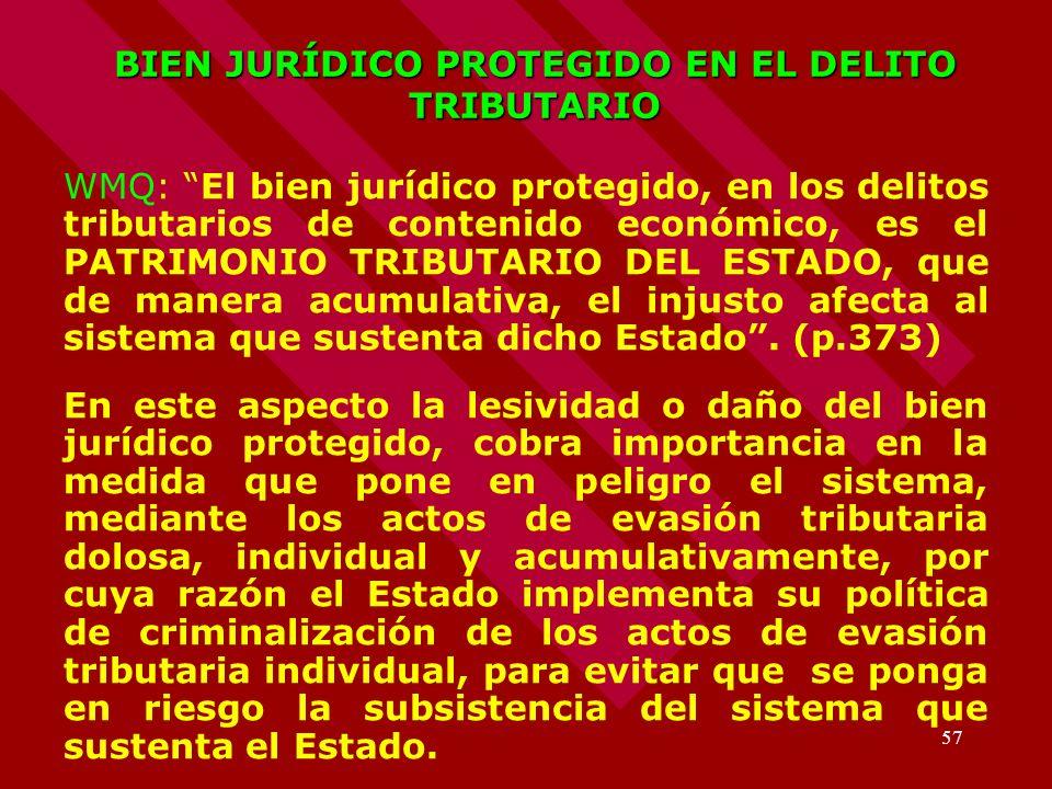 BIEN JURÍDICO PROTEGIDO EN EL DELITO TRIBUTARIO