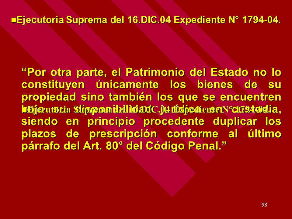 Ejecutoria Suprema del 16.DIC.04 Expediente N° 1794-04.