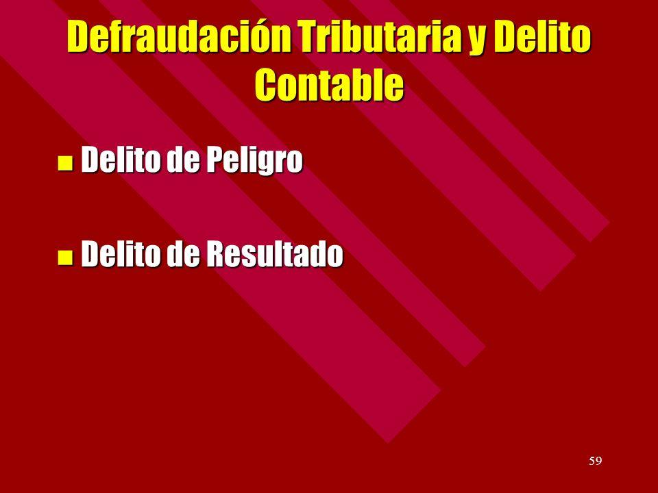 Defraudación Tributaria y Delito Contable
